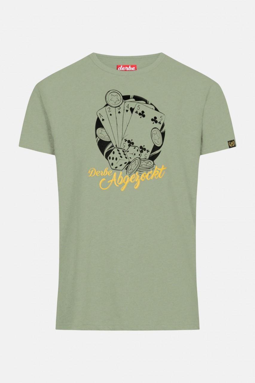 Derbe Abgezockt Herren T-Shirt Lily Pad Grün