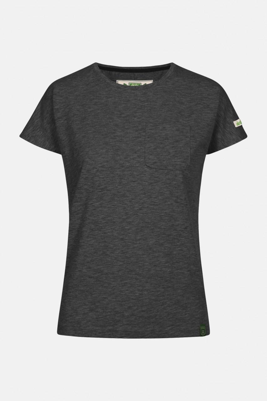 Derbe Alani Damen Shirt GOTS Dunkelgrau Melange