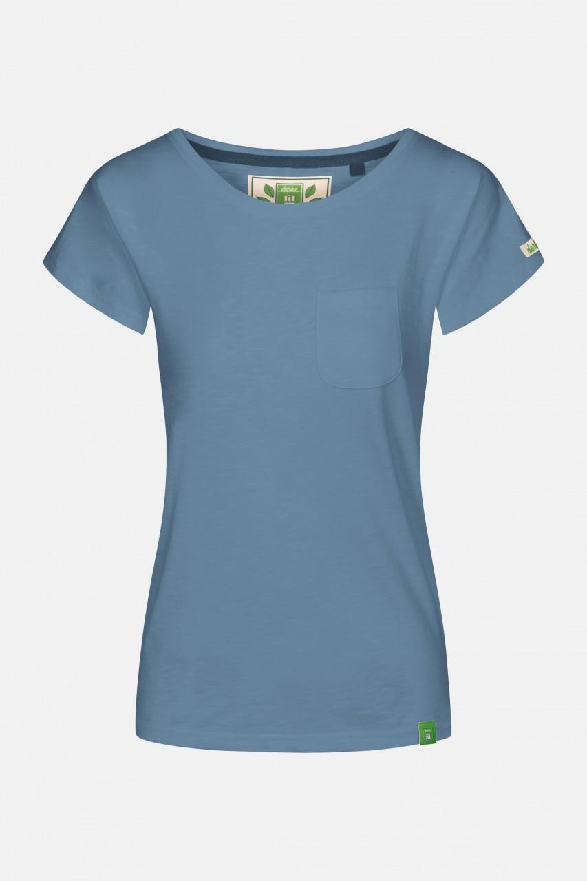Derbe Alani Gots Organic Damen Shirt Blau Bio