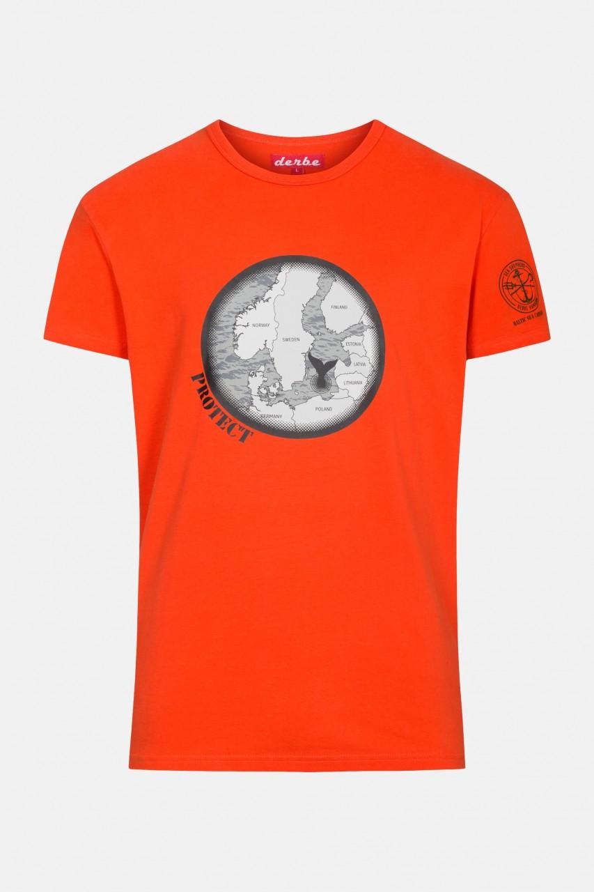 Derbe Binoculars Herren Shirt Gots Organic Sea Shepherd Cherry Tomato Rot