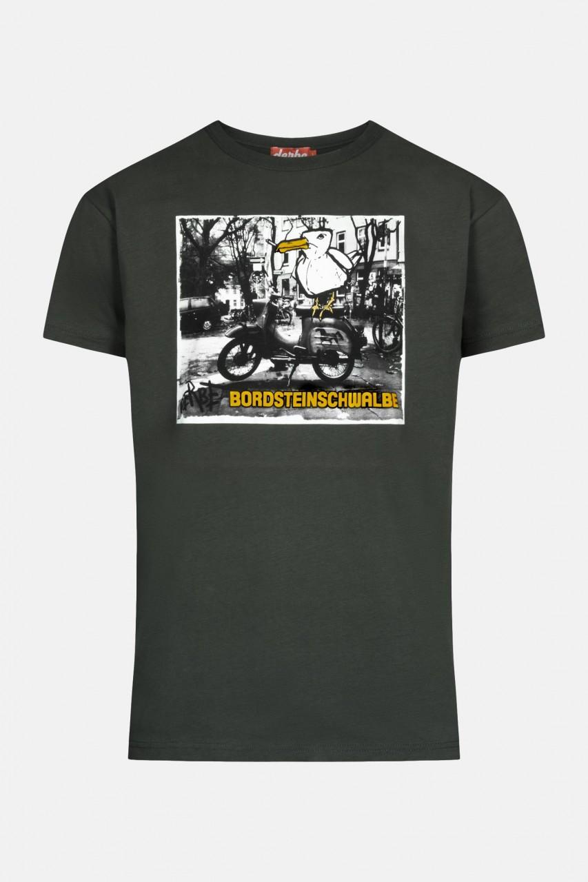 Derbe Bordsteinschwalbe Herren T-Shirt Phantom Schwarz