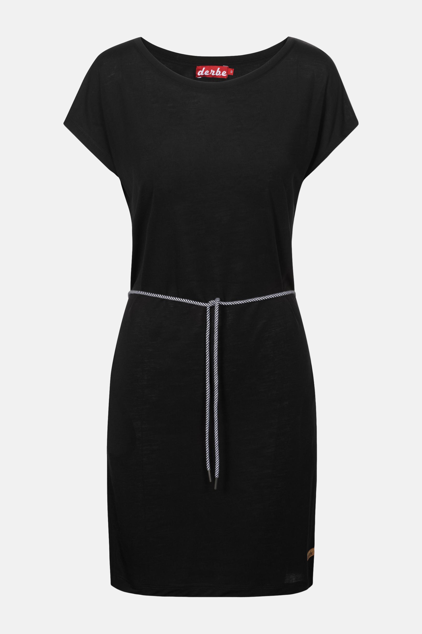 Derbe Botanic Schwarz Damen Kleid Bio Baumwolle