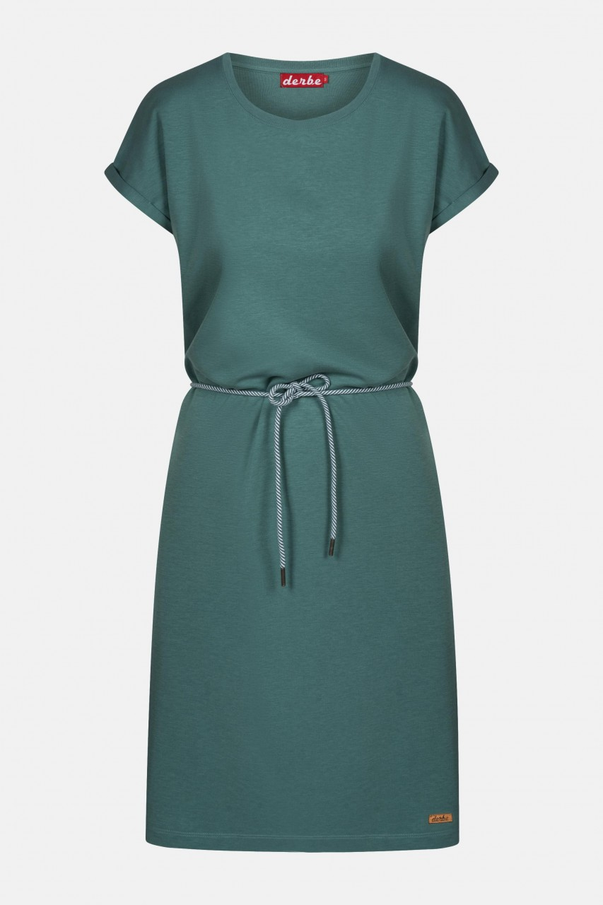 Derbe Brick Dress Sage Green Damen Kleid Grün