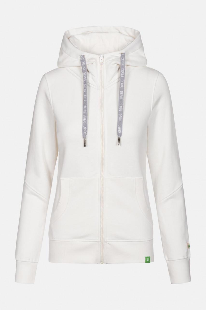 Derbe Delphis Gots Organic Damen Sweatjacke Offwhite Weiß