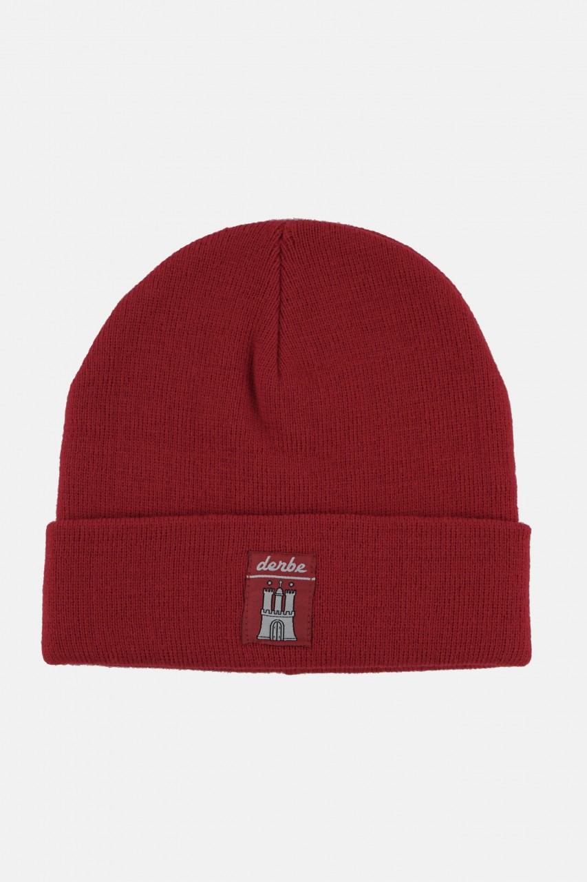 Derbe Mütze Rot