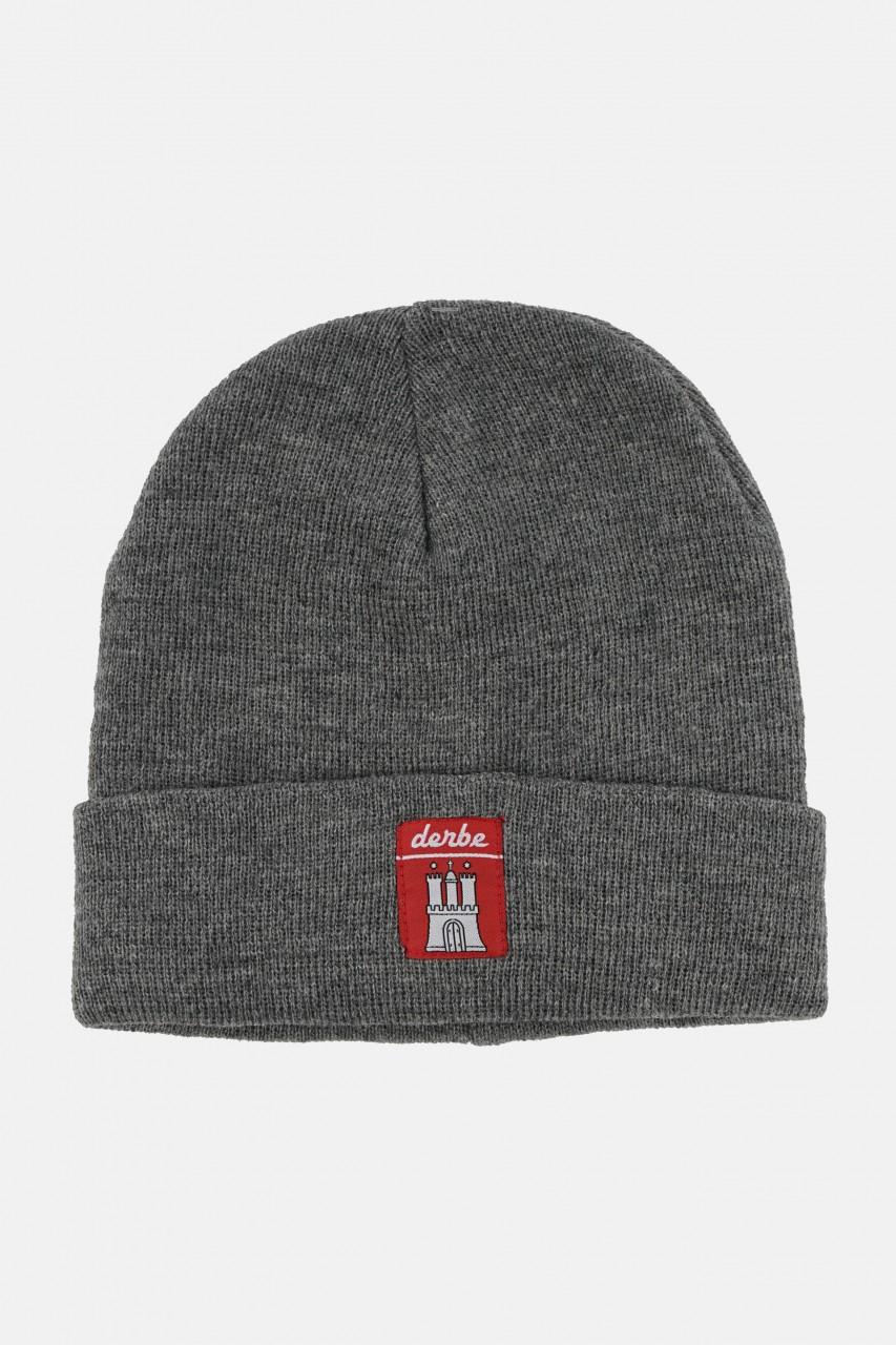 Derbe Mütze Grau Meliert