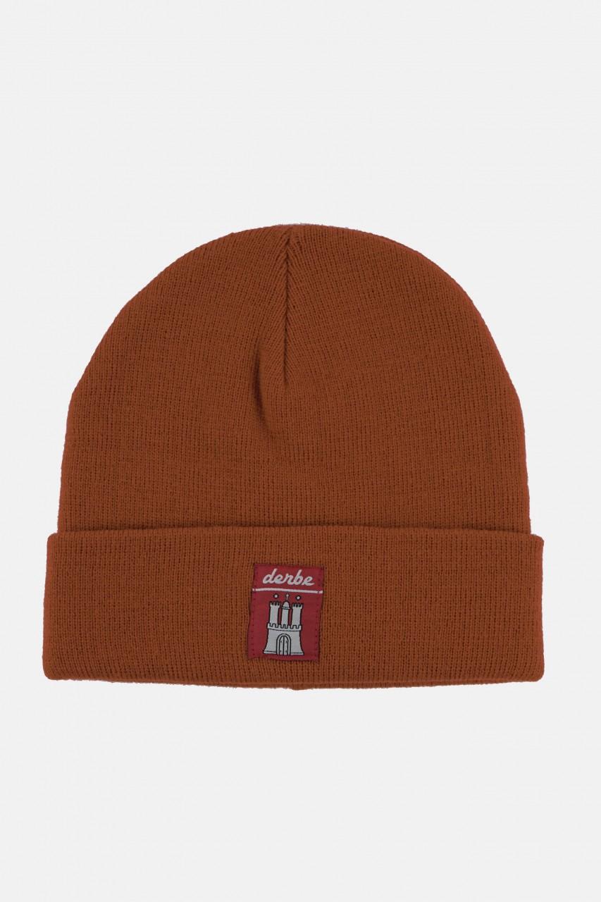 Derbe Mütze Rost Rot-Braun