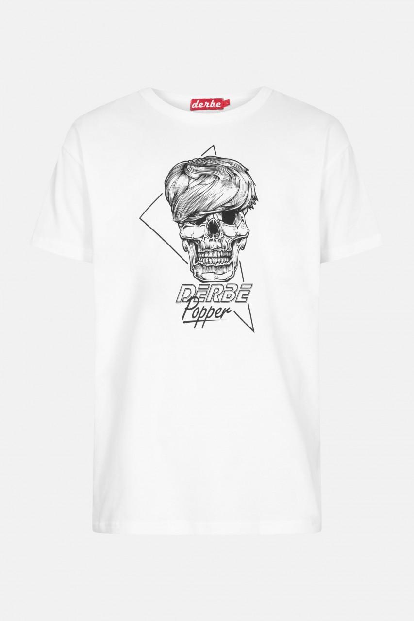 Derbe Popper Herren T-Shirt Weiß
