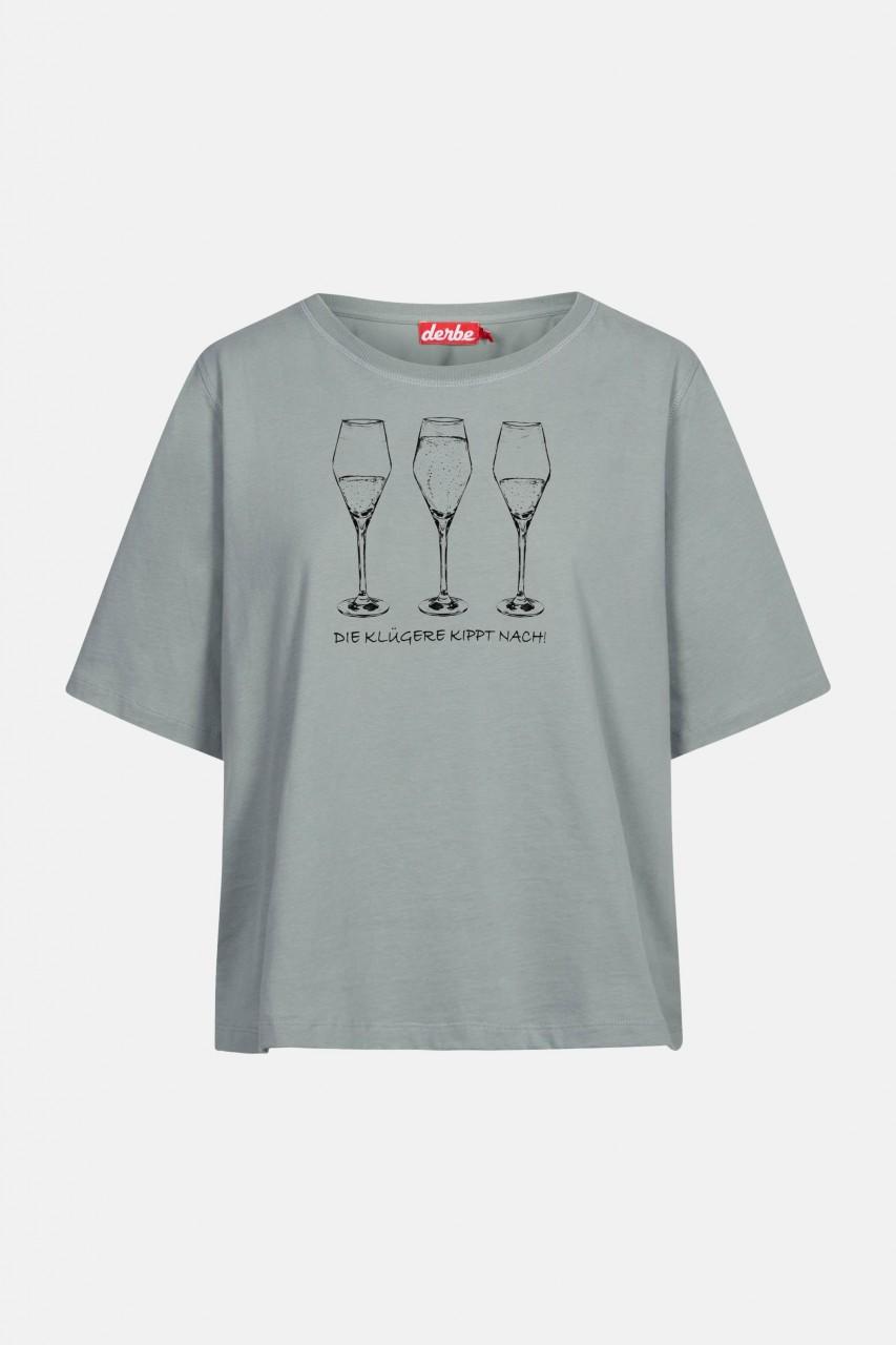 Derbe Die Klügere kippt nach Damen T-Shirt Quarry Grau