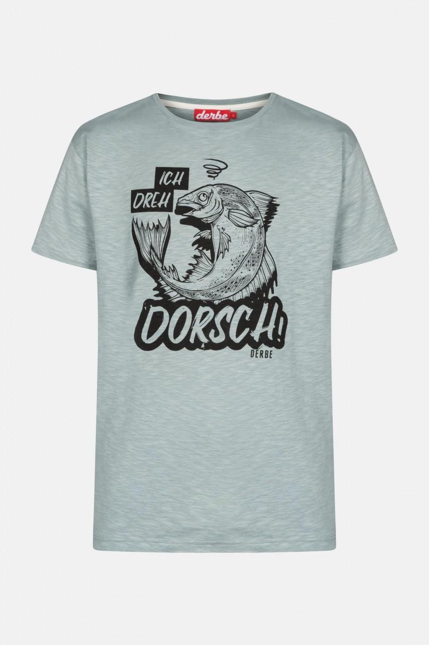 Derbe Dorsch Herren T-Shirt Quarry Grau - Ich dreh Dorsch