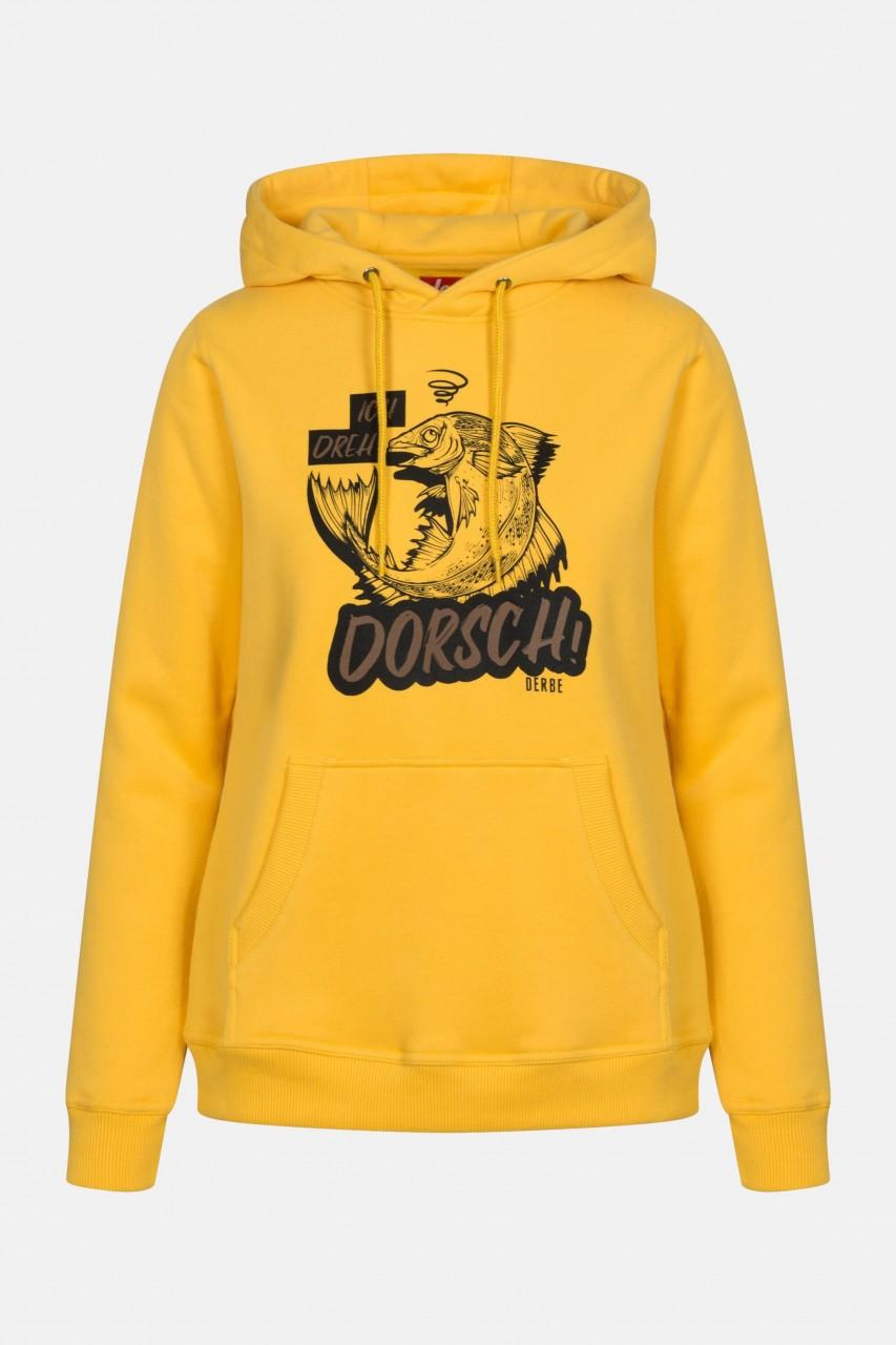 Derbe Dorsch Damen Hoody Yellow Gelb Kapuzenpullover