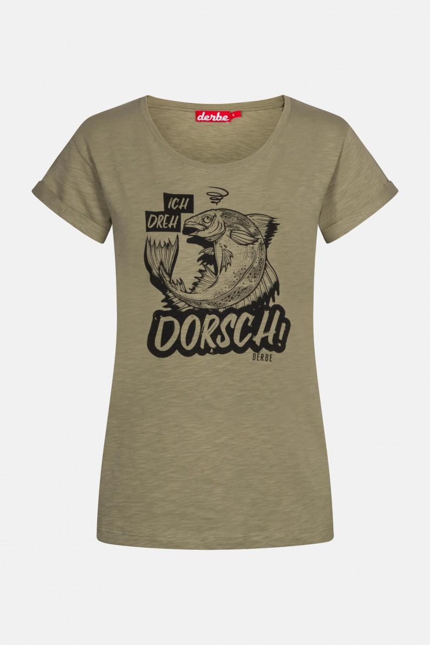 Derbe Dorsch Damen T-Shirt Light Oliv