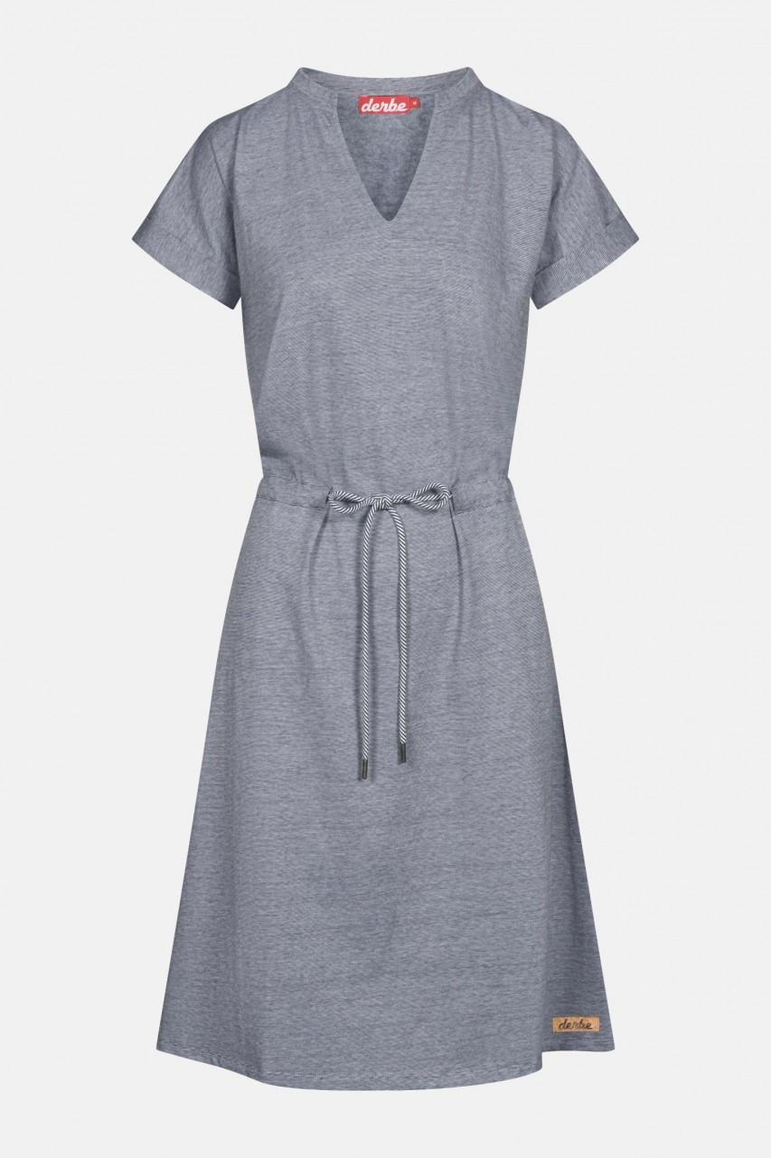 Derbe Dress Damen Kleid Navy Striped Dunkelblau Streifen