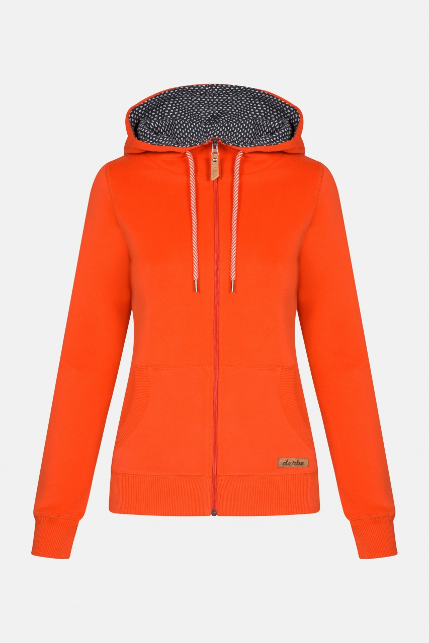 Derbe Easy Petite Ship Damen Sweatjacke Cherry Tomato Rot Orange Schiffe