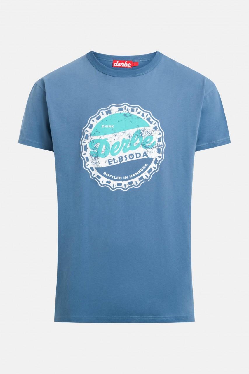 Derbe Elbsoda Herren T-Shirt Bijou Blue Blau