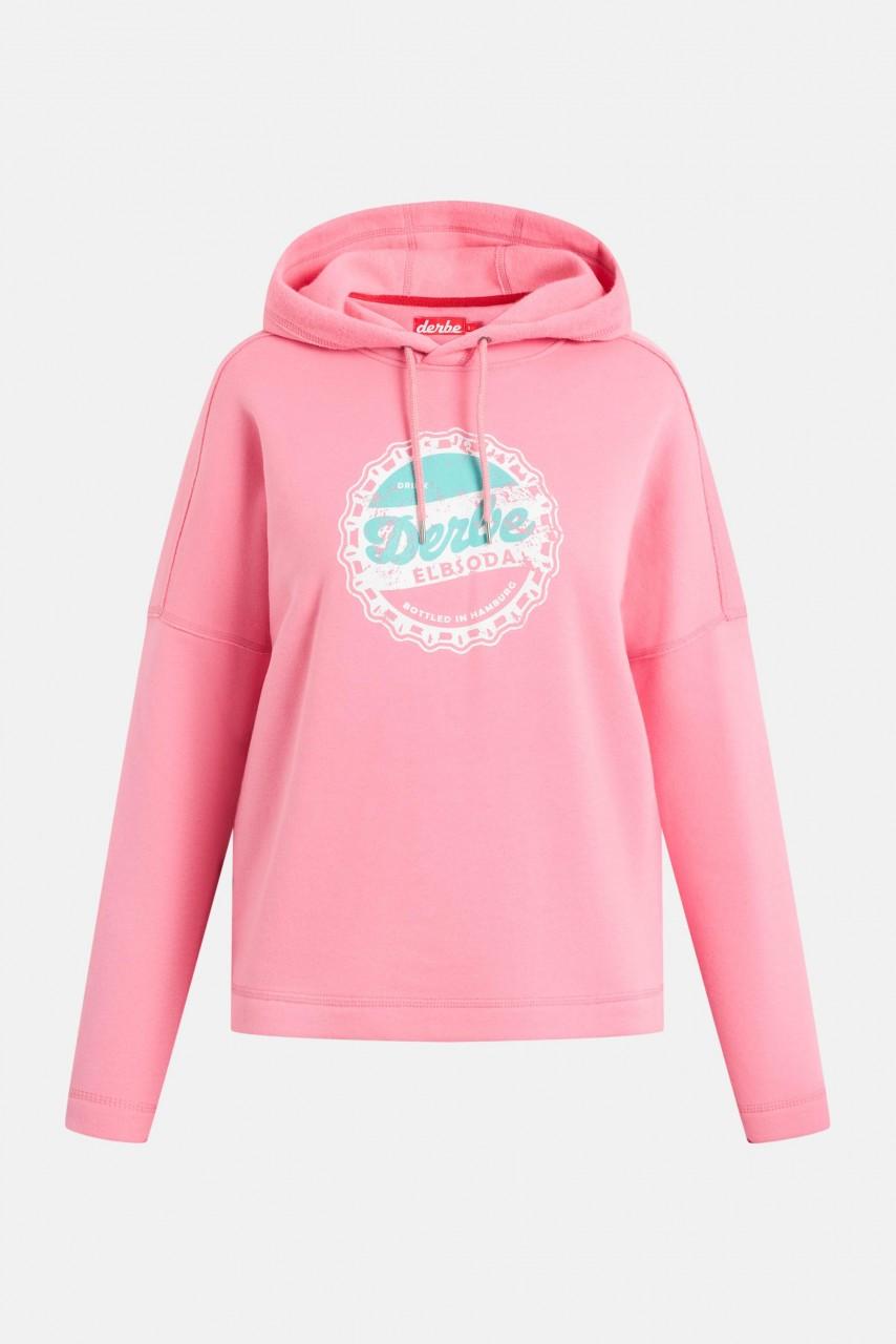 Derbe Elbsoda Damen Hoody Kapuzenpullover Bubblegum Pink