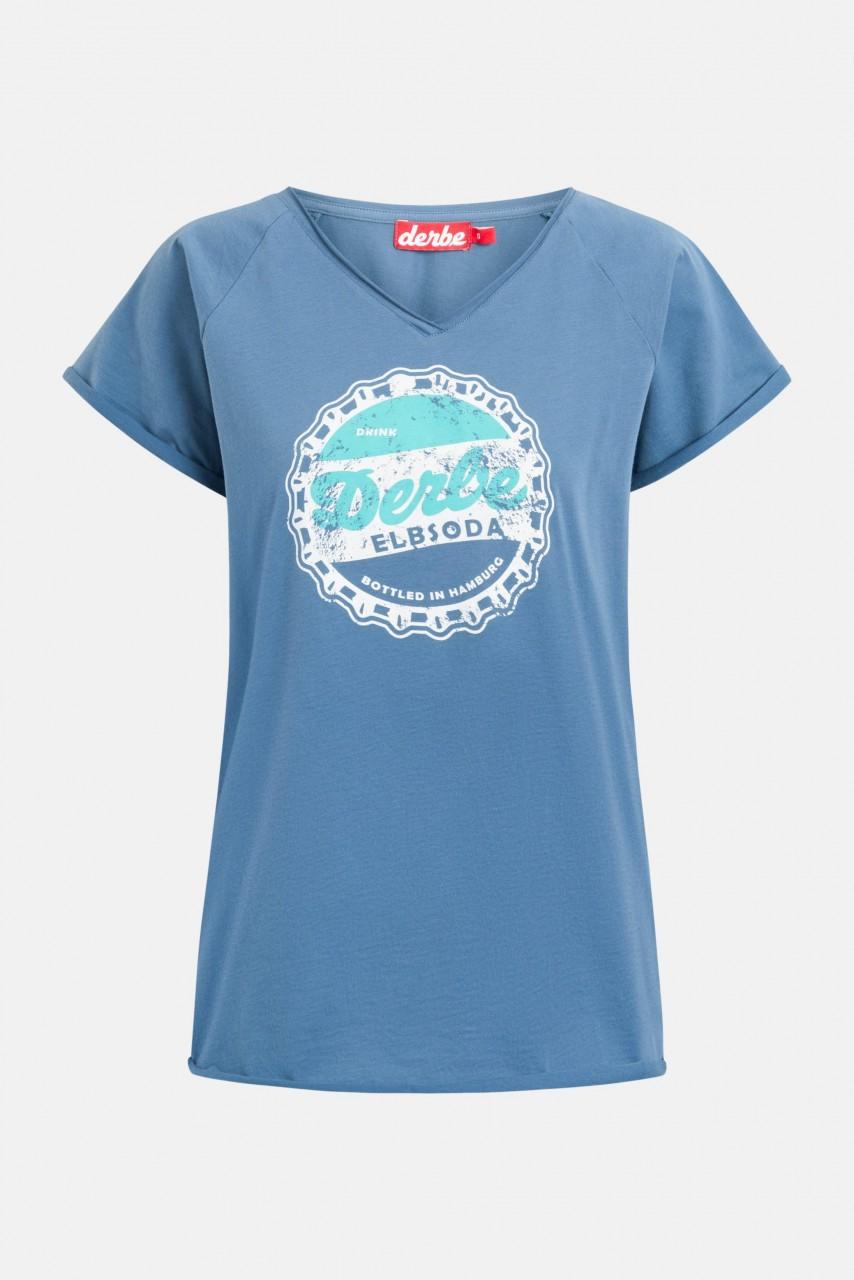 Derbe Elbsoda Damen T-Shirt Bijou Blue Blau