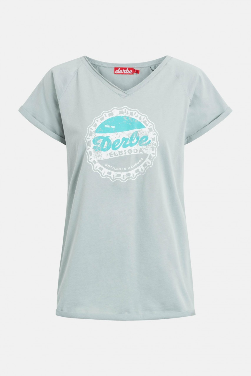 Derbe Elbsoda Damen T-Shirt Quarry Grau