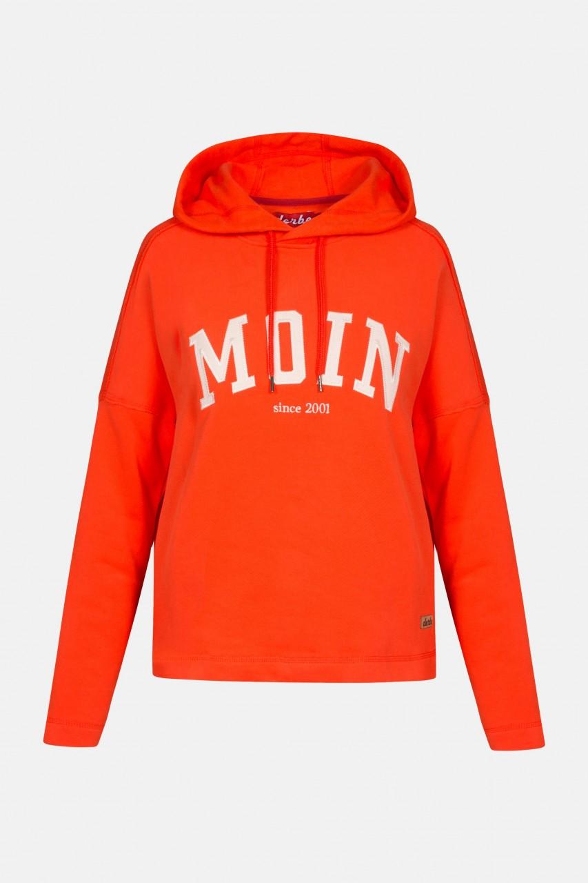Derbe Favorite Hoody Damen Kapuzenpullover Rot Orange