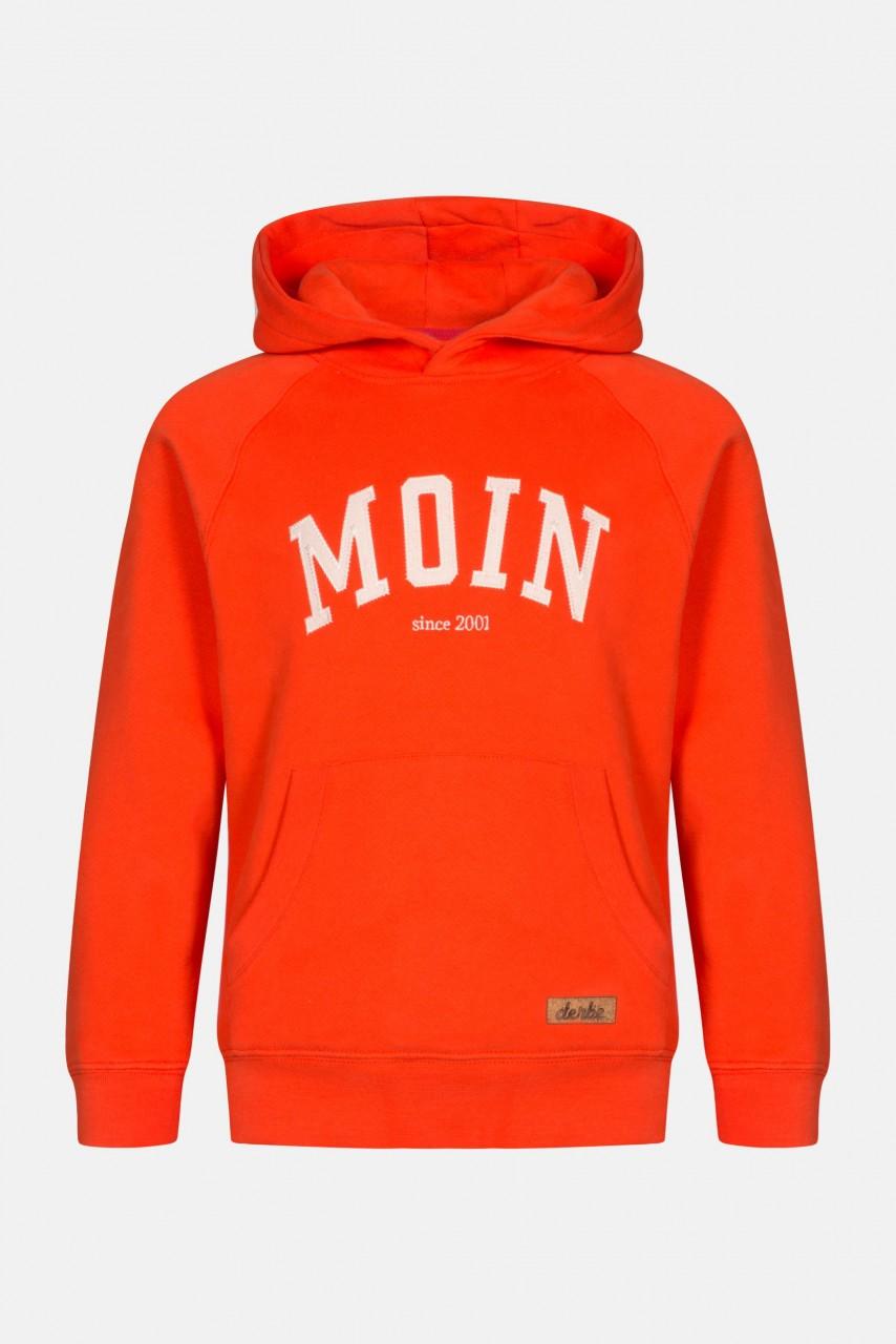 Derbe Kinder Favorite Hoody Kids Kapuzenpullover Rot Orange