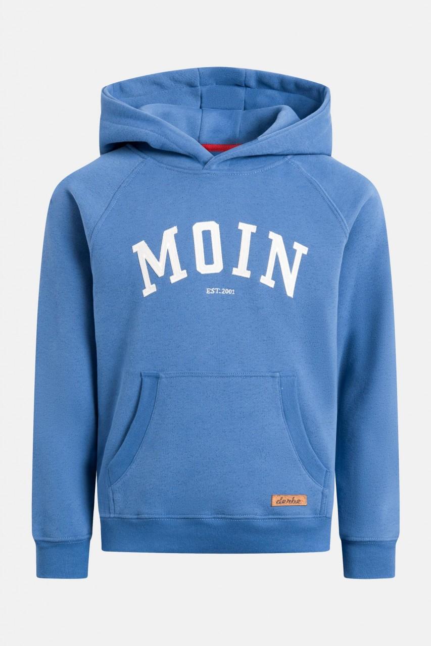 Derbe Favorite Hoody Kids Moin Kinder Kapuzenpullover Bijou Blue Blau