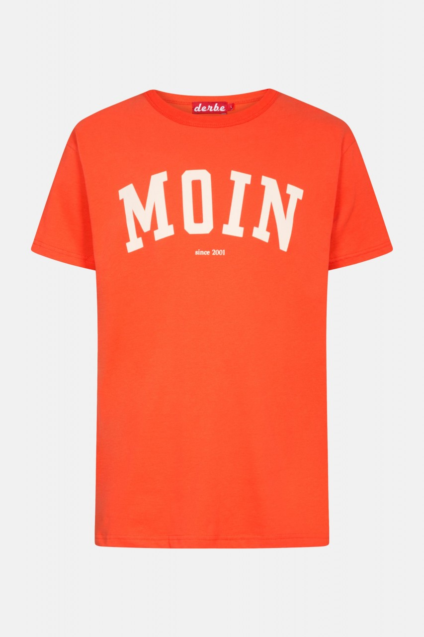 Derbe Favorite Tee Herren T-Shirt Cherry Tomato Rot Orange Moin