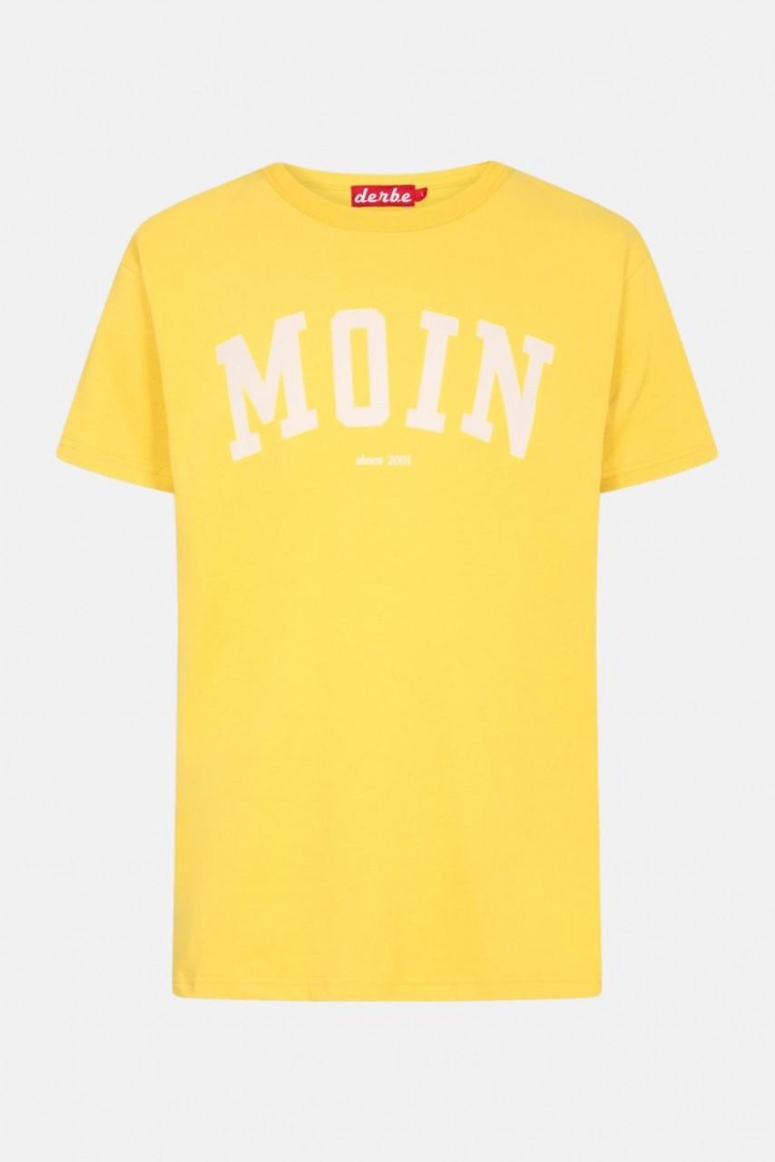 Derbe Favorite Tee Herren T-Shirt Gelb Moin