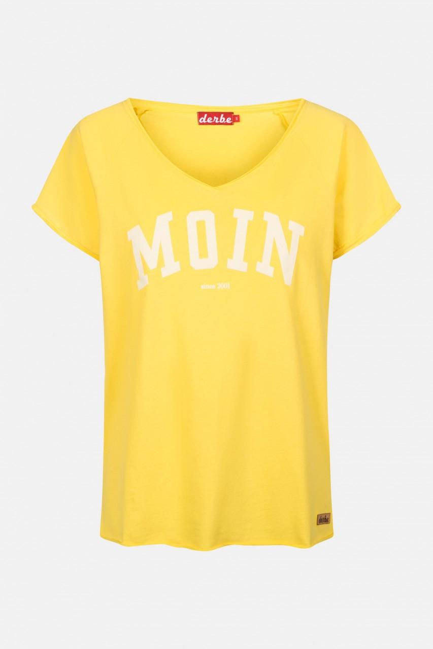 Derbe Favorite Tee Damen T-Shirt Gelb Moin