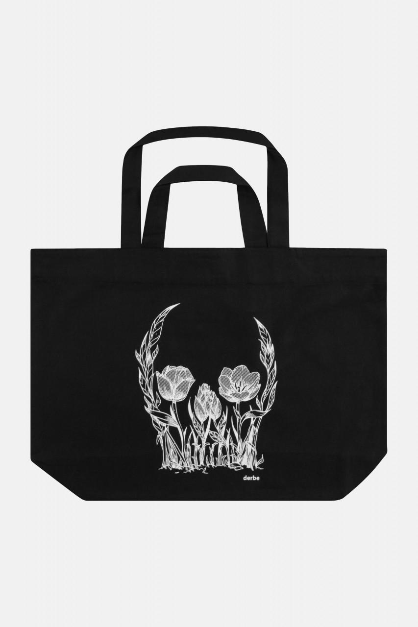 Derbe Flower Skull Bag Black Tasche Blumen Schädel Schwarz
