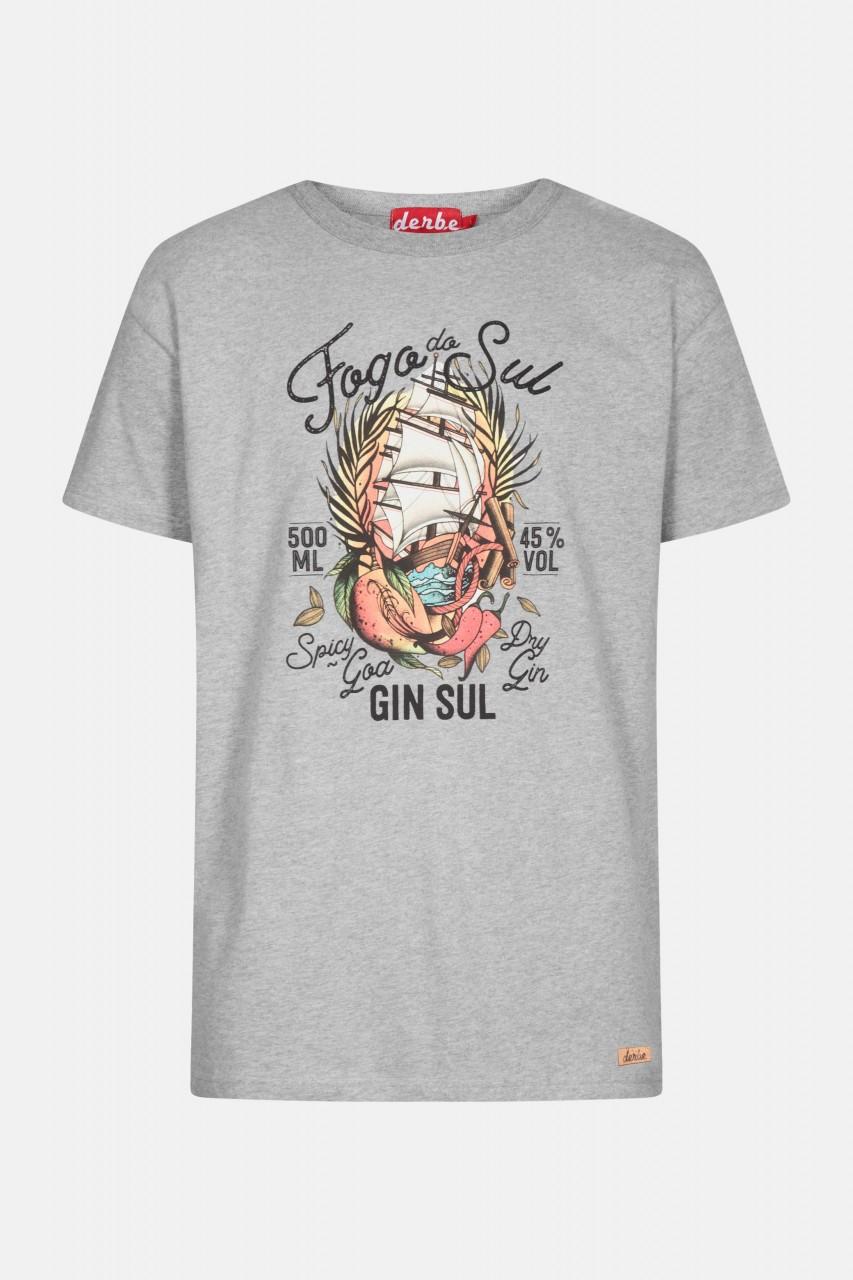 Derbe Fogo Do Sul Herren T-Shirt Grau Gin Sul