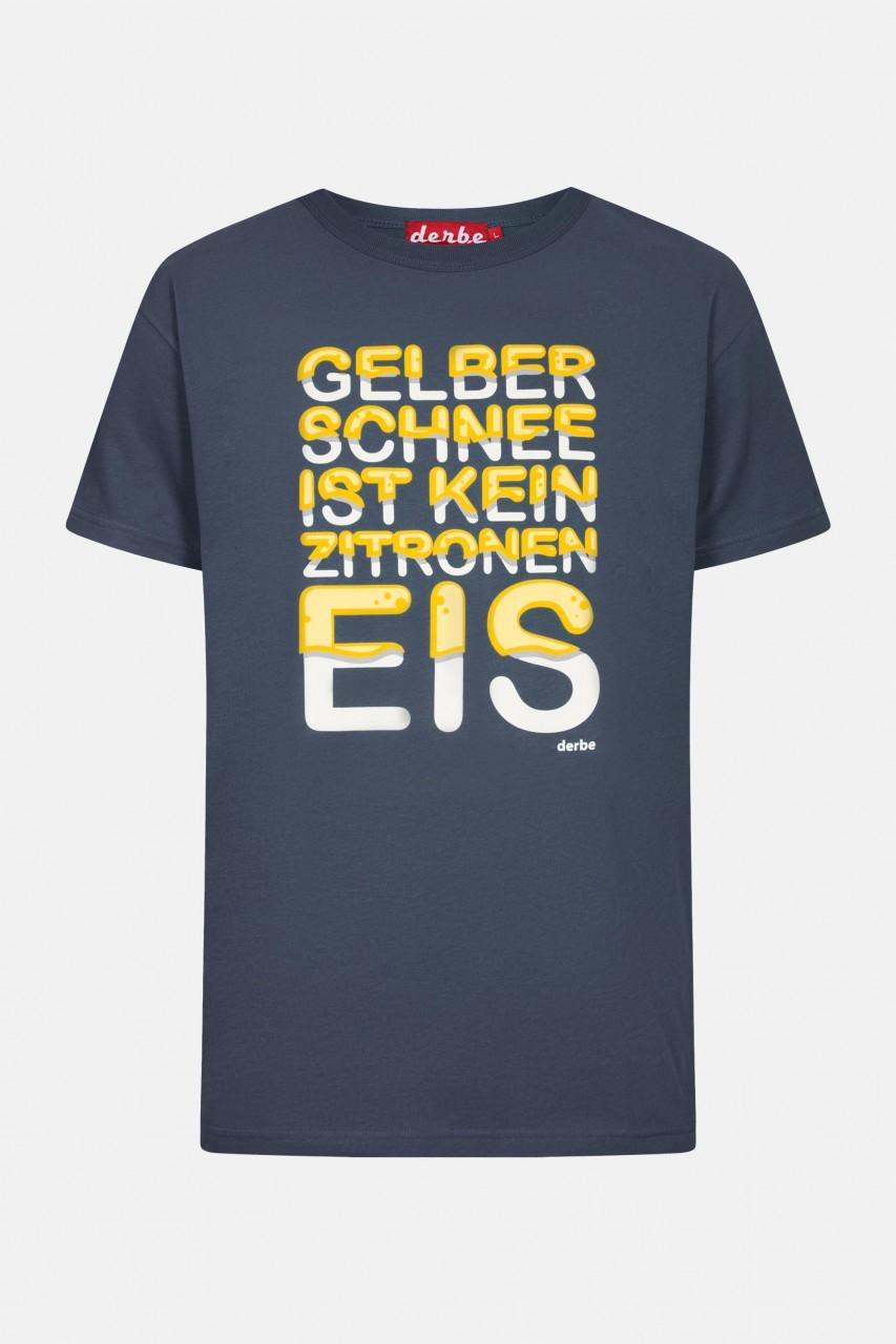Derbe Gelber Schnee Herren T-Shirt Dunkelblau