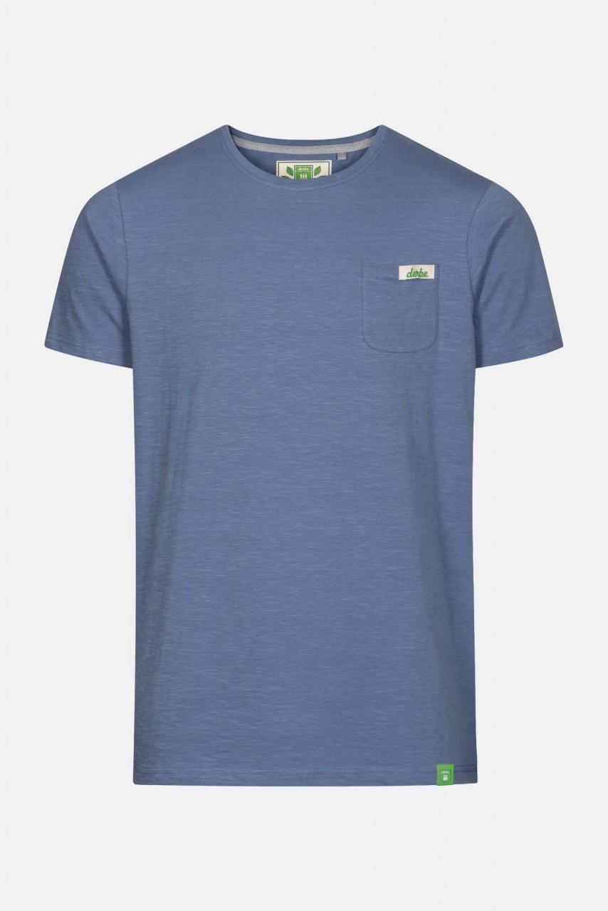 Derbe Gideon Herren Shirt Gots Organic Blau Bio