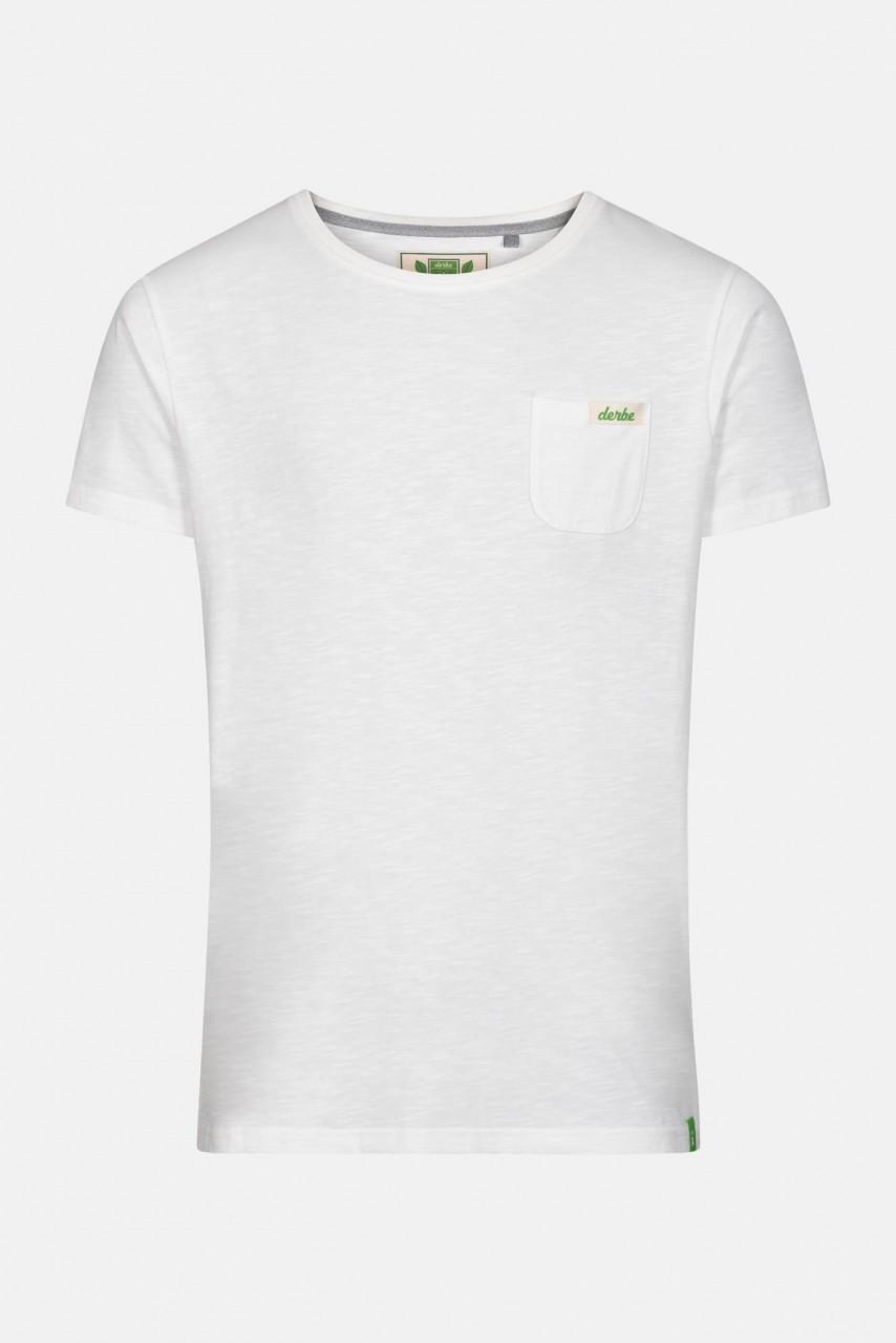 Derbe Gideon Herren Shirt Gots Organic Offwhite Bio
