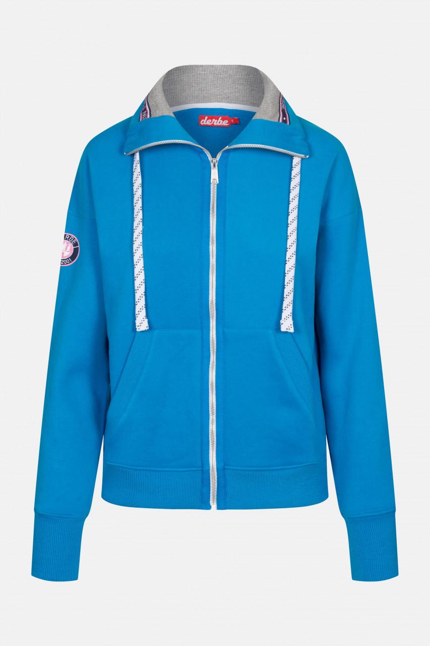 Derbe Girls Damen Sweatjacke Swedish Blue Blau