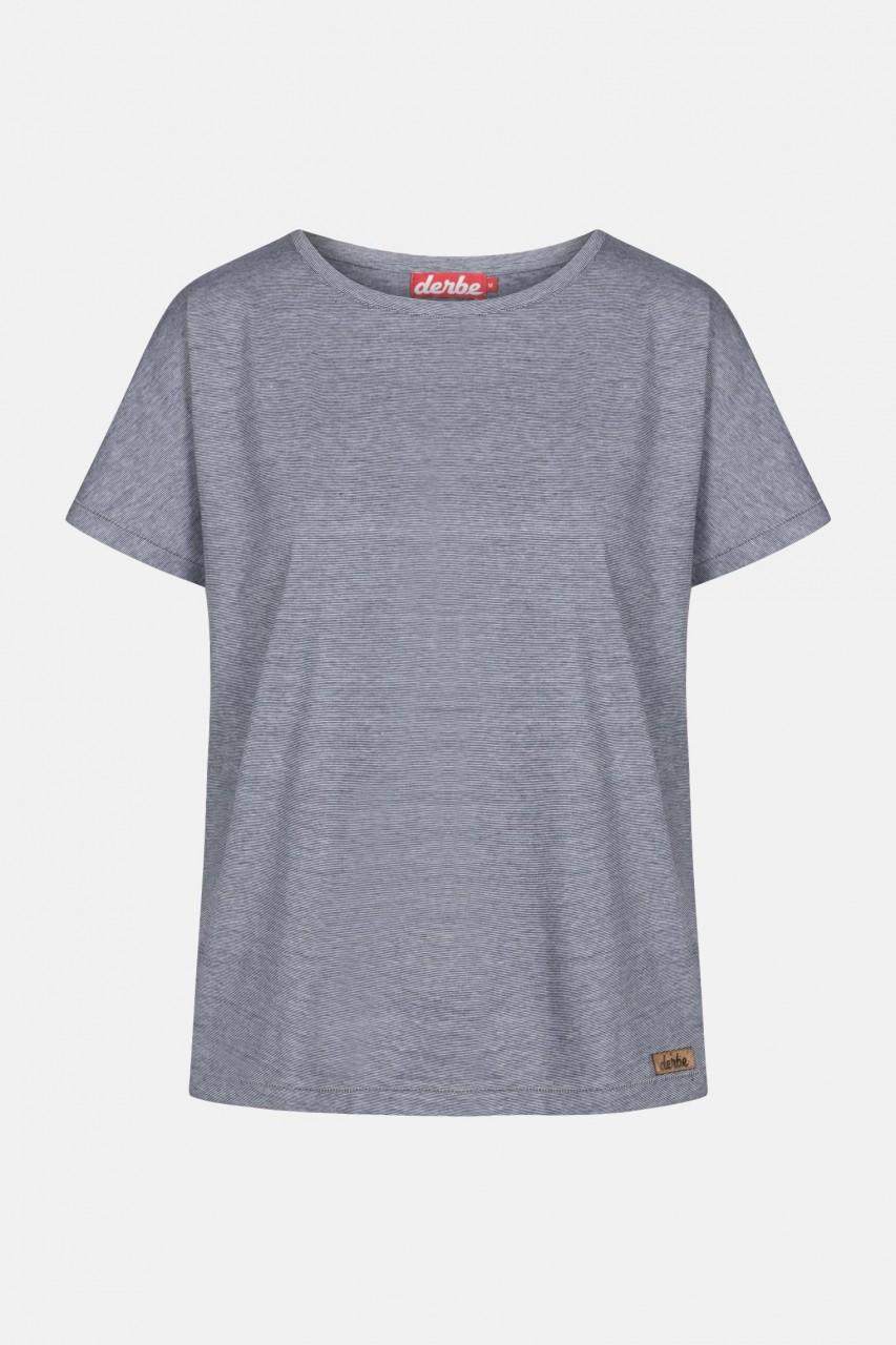 Derbe Girls T-Shirt Damen Navy Streifen Weiß Blau