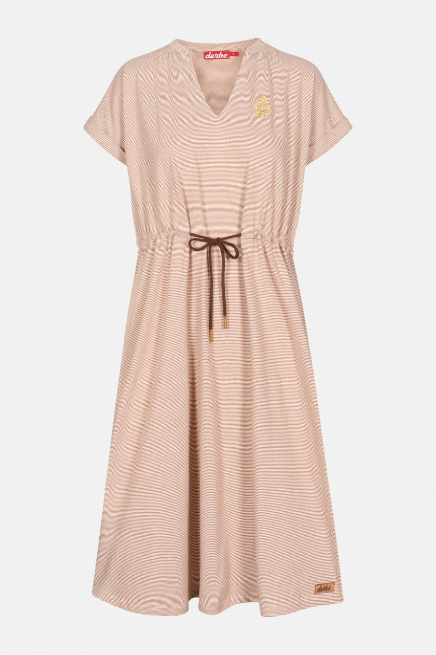 Derbe Golden Anchor Damen Kleid Burnt Ochre Rostrot Gestreift