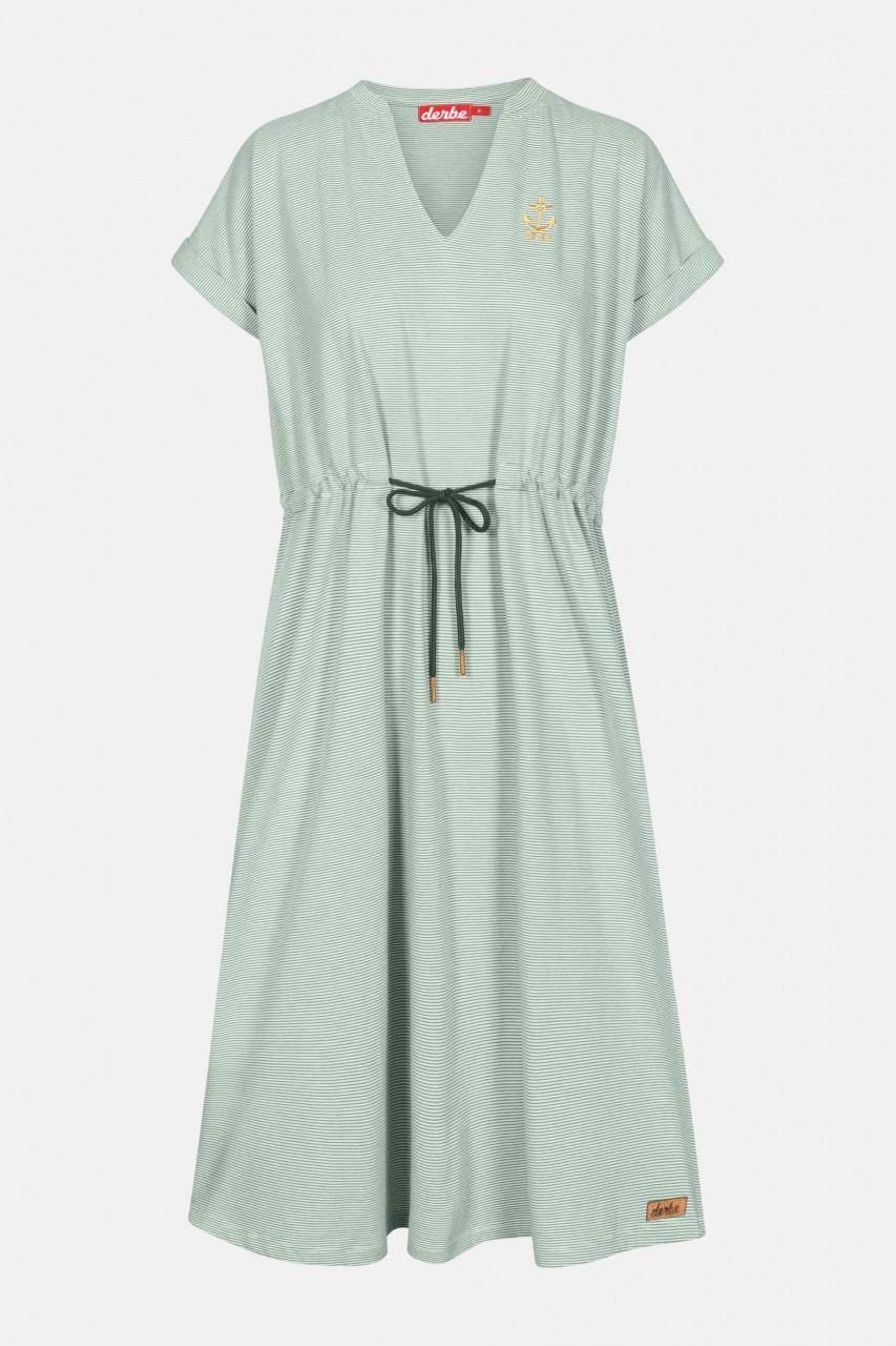 Derbe Golden Anchor Damen Kleid Lily Pad Grün Streifen