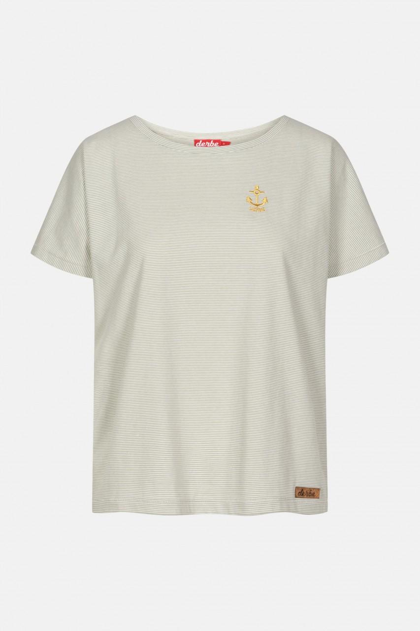 Derbe Golden Anchor Damen T-Shirt Lily Pad Grün Streifen