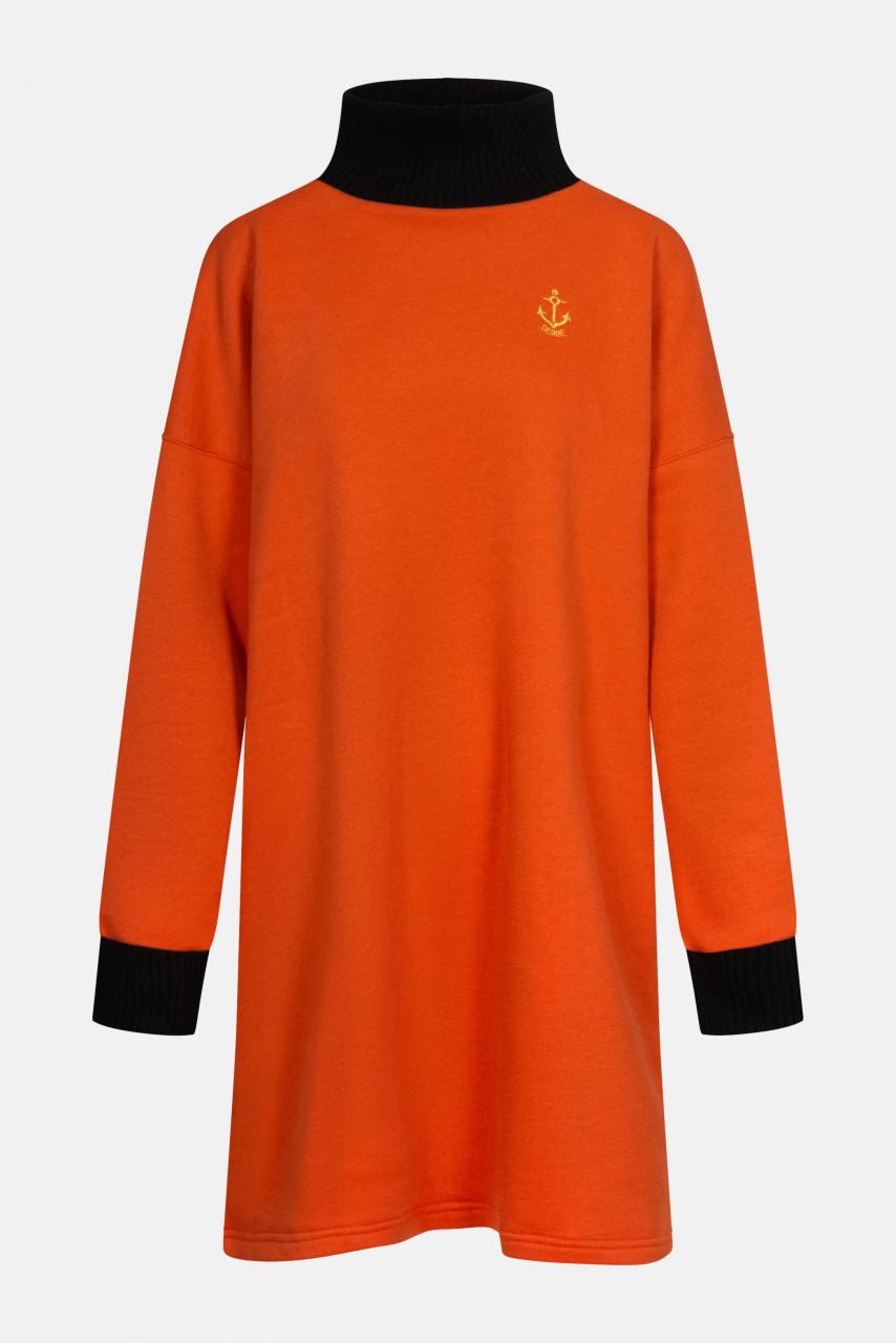 Derbe Golden Anchor Longshirt Pulloverkleid Anker Burnt Ochre Rostrot