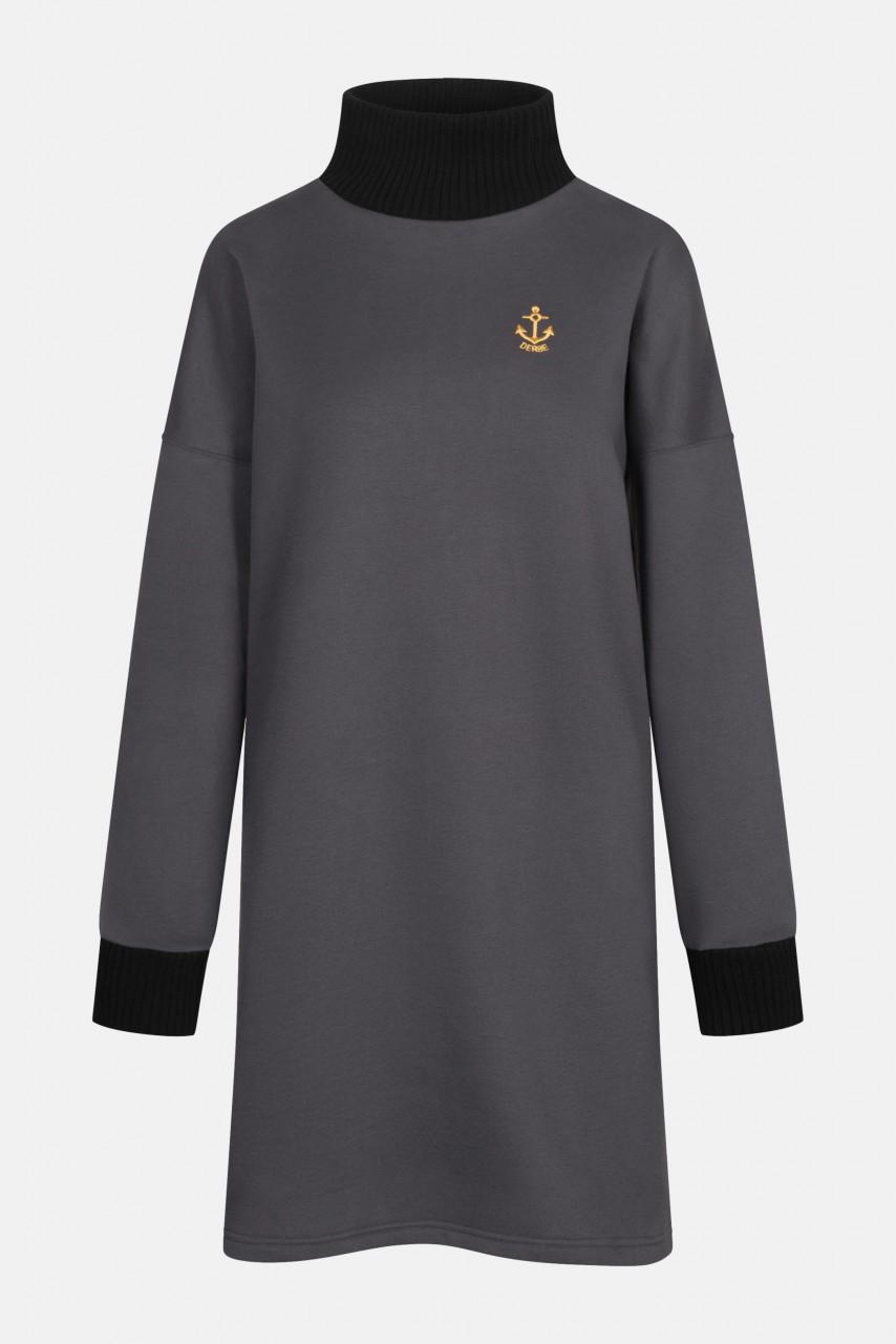 Derbe Golden Anchor Longshirt Pulloverkleid Anker Phantom Schwarz