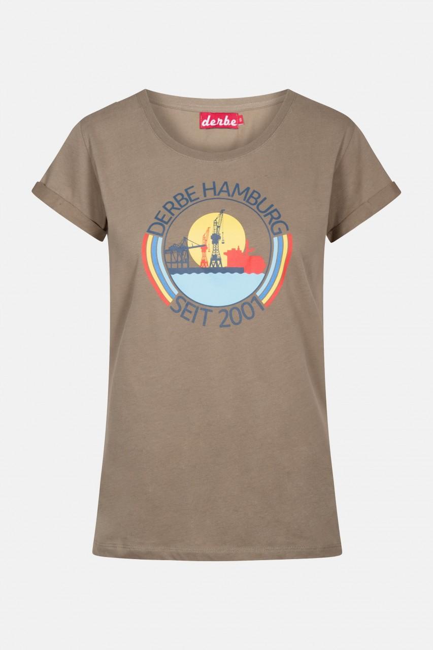 Derbe Hafenring Damen T-Shirt Brindle Braun