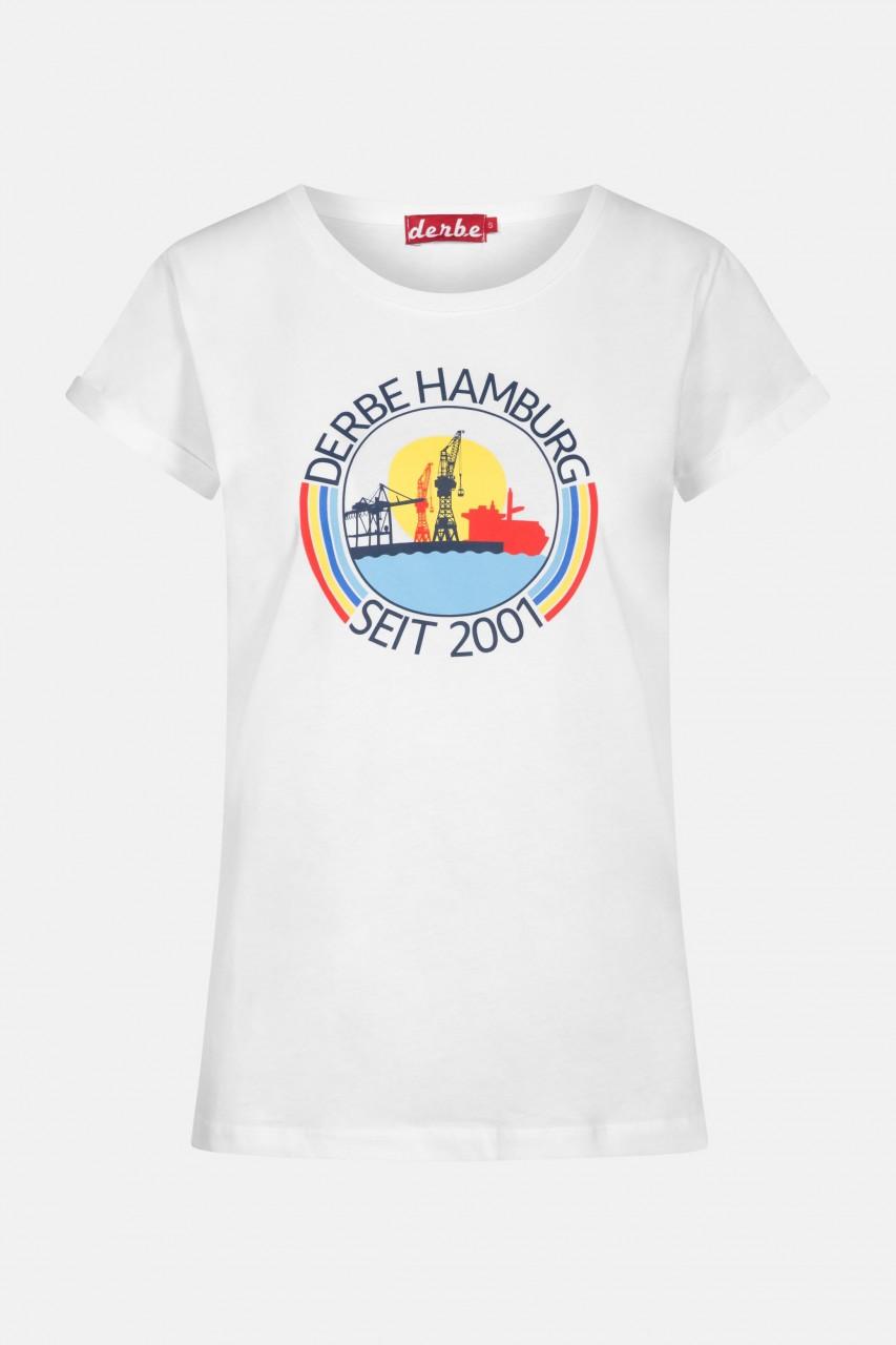 Derbe Hafenring Damen T-Shirt Weiß