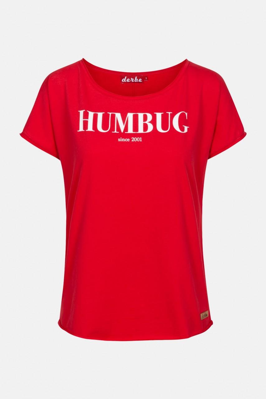 Derbe Hedi Humbug Rot Damen T-Shirt Bio Baumwolle