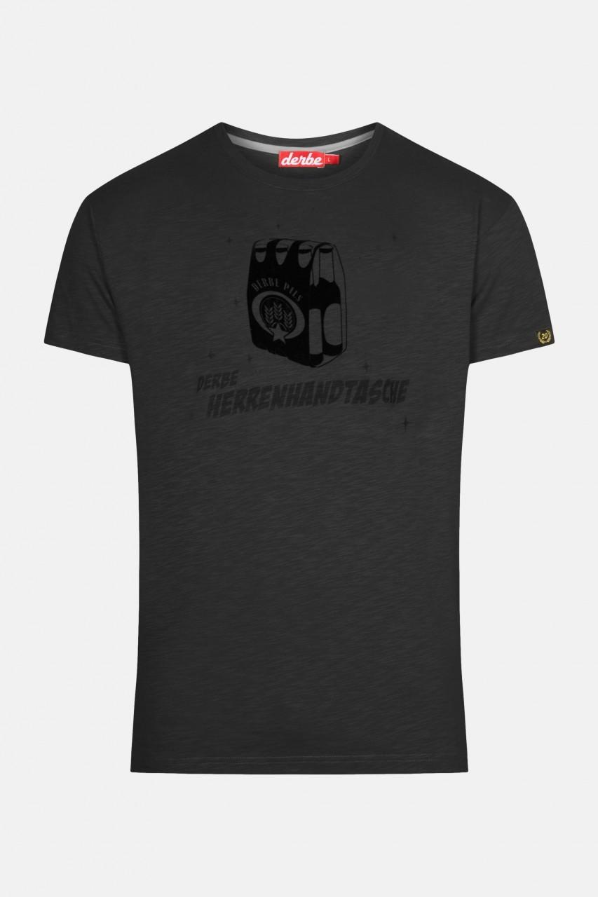 Derbe Herrenhandtasche Herren T-Shirt Phantom Schwarz
