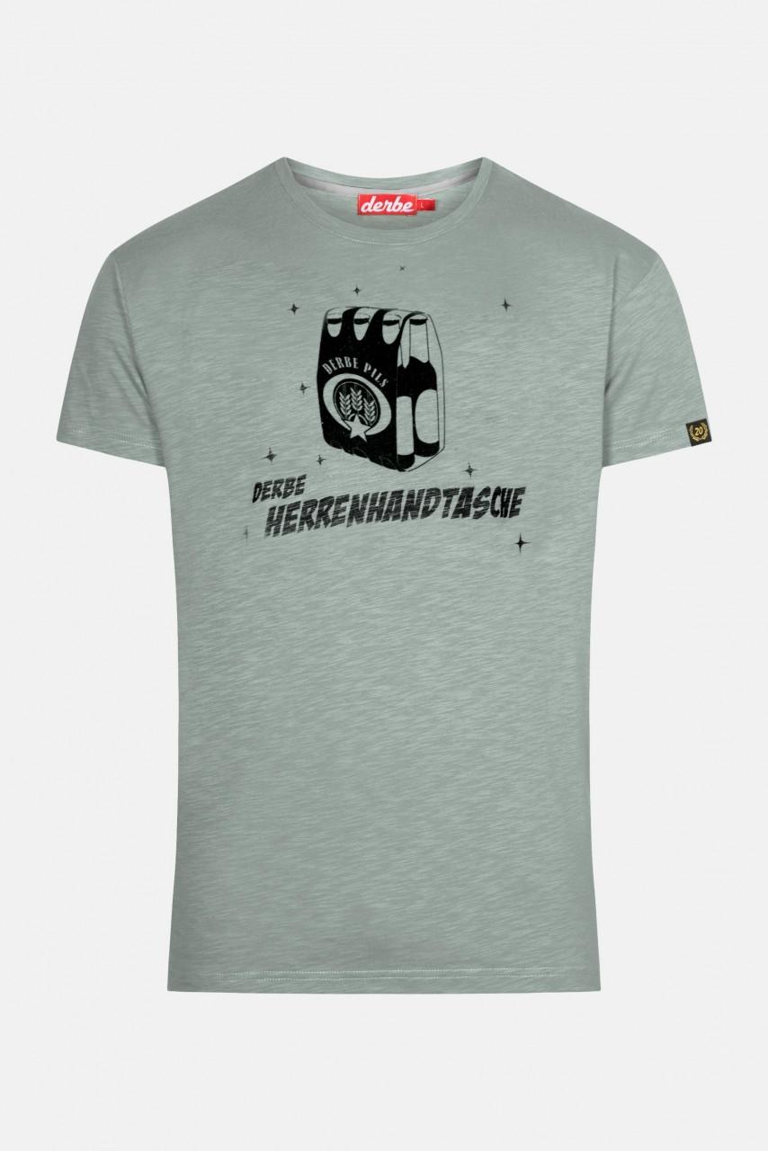 Derbe Herrenhandtasche Herren T-Shirt Quarry Grau