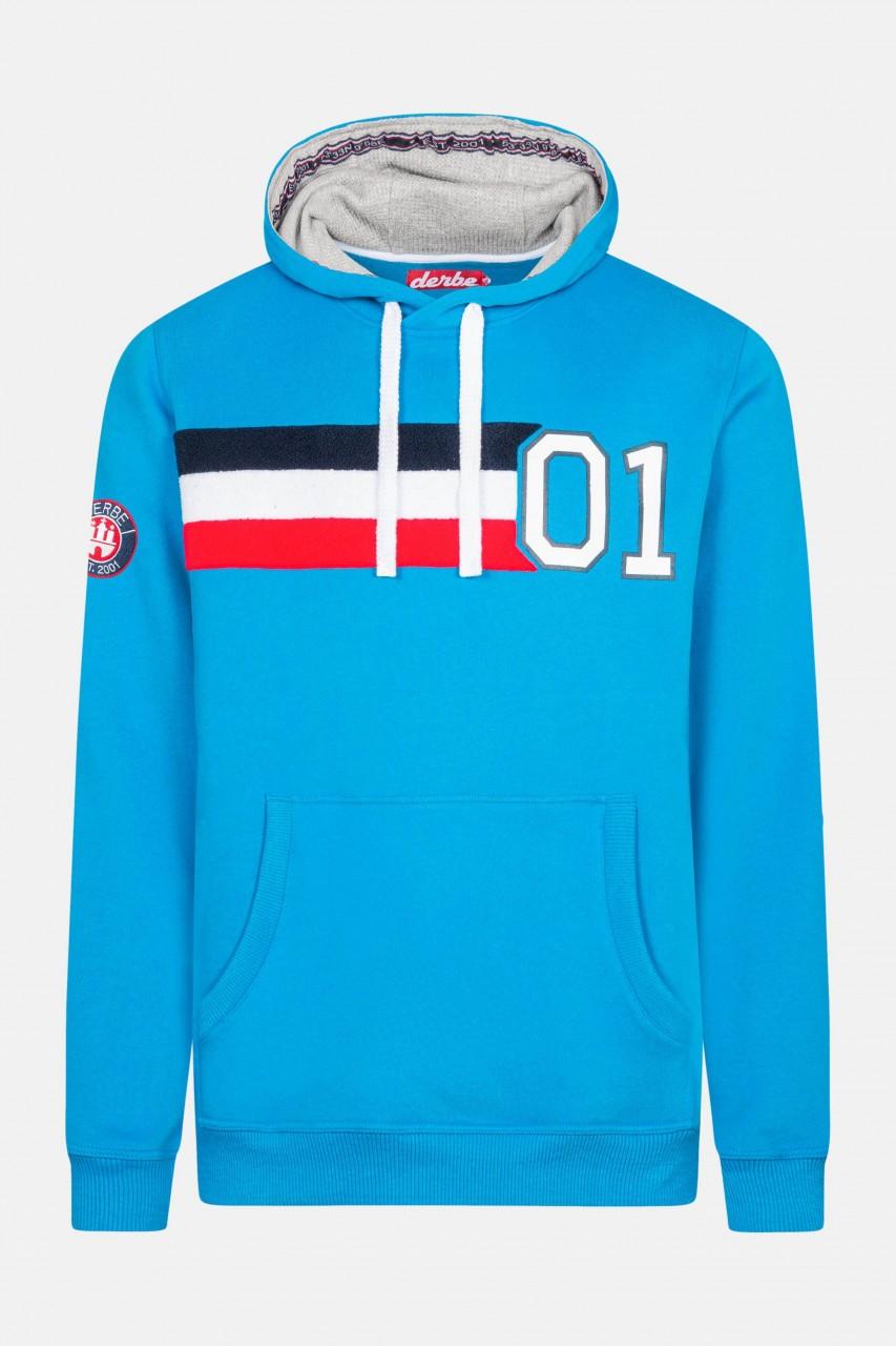 Derbe 01 Hoody Boys Herren Kapuzenpullover Swedish Blue Blau