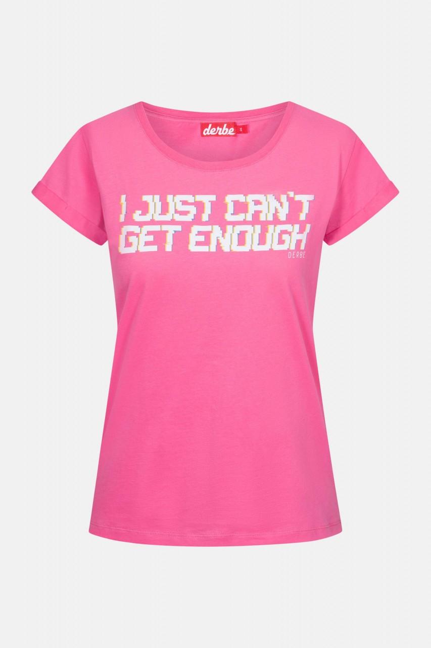 Derbe I just can't get enough Damen T-Shirt Carmine Rose Pink
