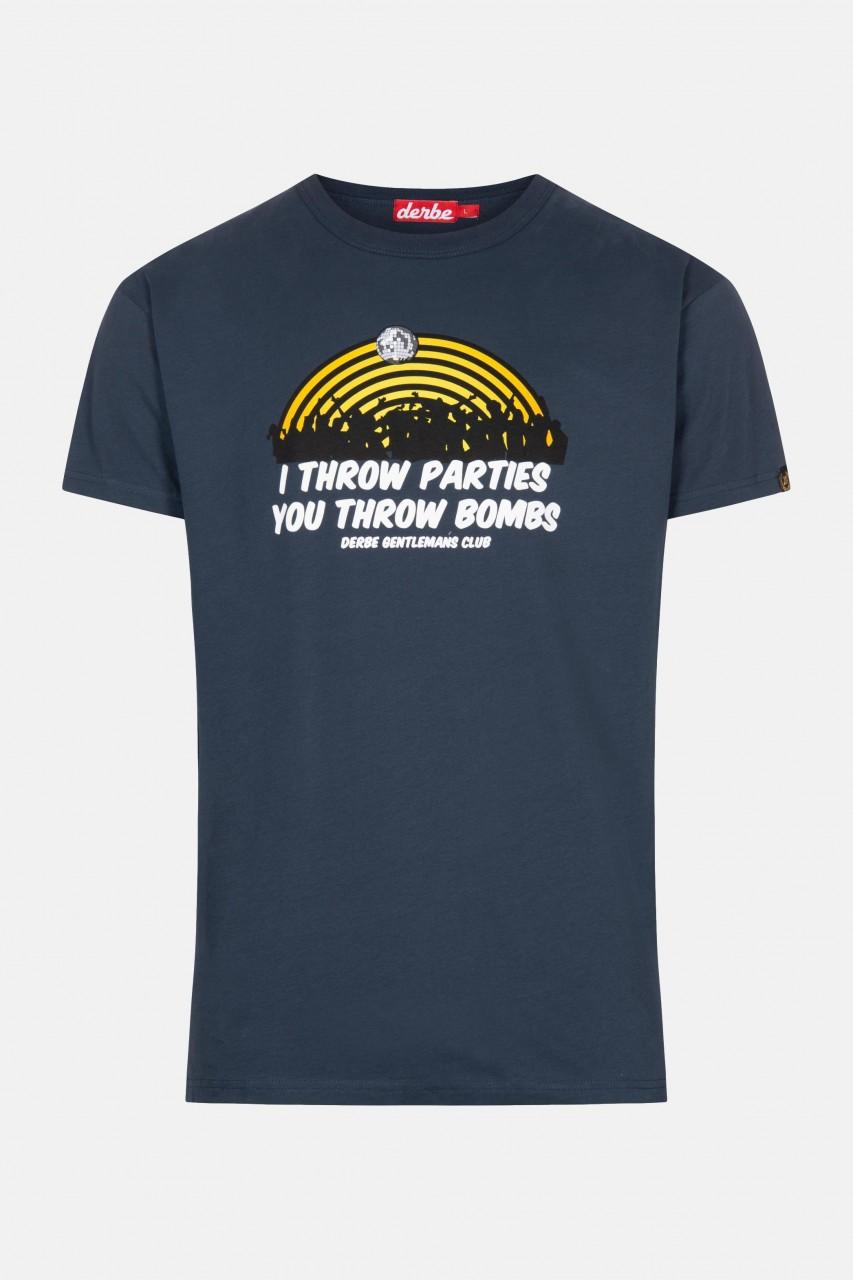Derbe I Throw Parties Herren T-Shirt Navy Dunkelblau