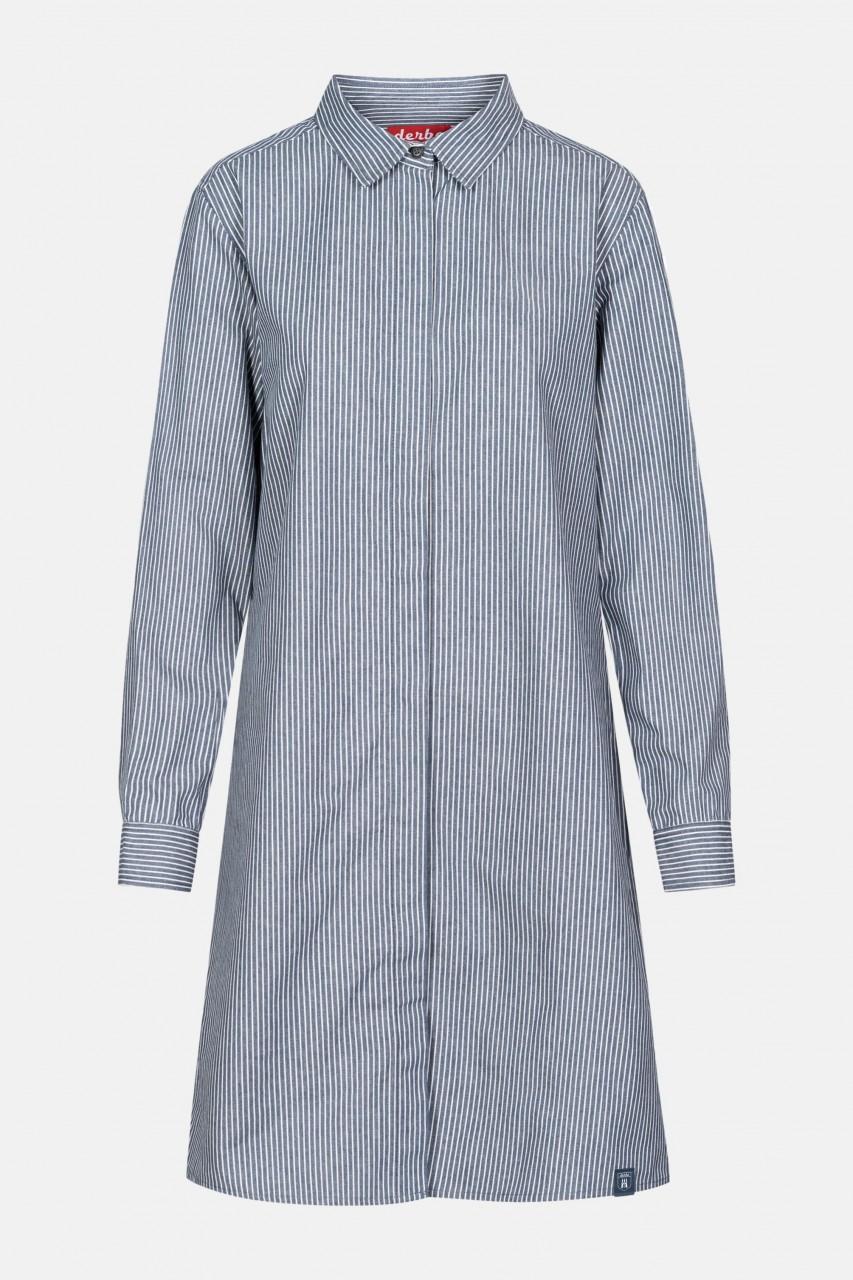 Derbe In Schale Damen Fischerkleid Blau Weiß Gestreift