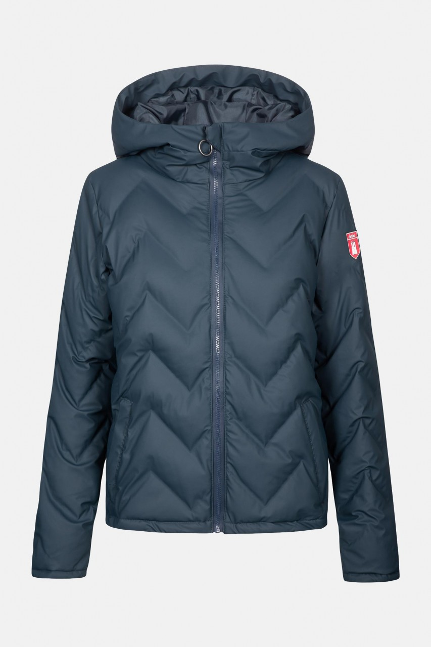 Derbe Interlink Damen Winterjacke Dunkelblau Kurz